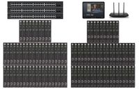 POE 50x50 HDMI Over IP Matrix Switcher w/iPad Real Time Video Preview