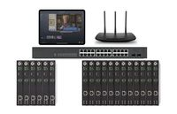 POE 6x12 HDMI Over IP Matrix Switcher w/iPad Real Time Video Preview