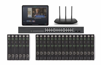 POE 6x16 HDMI Over IP Matrix Switcher w/Real Time Video Preview