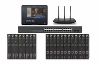 POE 8x12 HDMI Over IP Matrix Switcher w/Real Time Video Preview