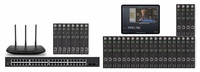 POE 8x24 HDMI Over IP Matrix Switcher w/Real Time Video Preview