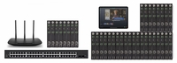 POE 8x28 HDMI Over IP Matrix Switcher w/Real Time Video Preview
