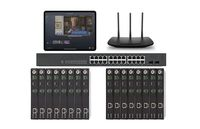 POE 8x8 HDMI Over IP Matrix Switcher w/Real Time iPad Video Preview