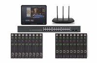 POE 9x9 HDMI Over IP Matrix Switcher w/Real Time iPad Video Preview