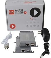 Rugged HDMI over CAT5 Extender with USB & KVM