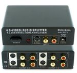 Shinybow SB-3716 1x4 S-Video & Audio Distribution Amplifier - TAA Compliant