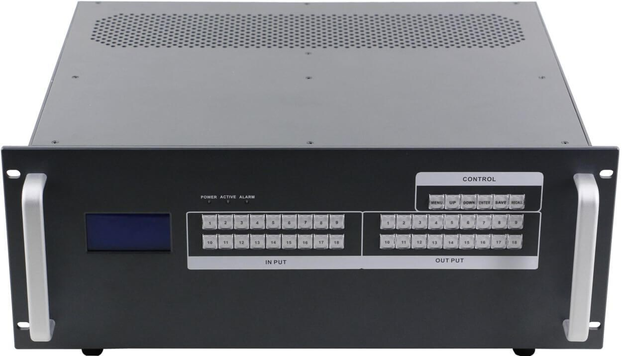 12x16 HDMI Matrix Switcher over CAT5 w/16-HDBaseT Receivers, Separate Audio & 100ms Switching