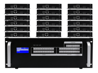 18x18 HDMI Matrix Switcher over CAT5 w/18-HDBaseT Receivers, Separate Audio & 100ms Switching