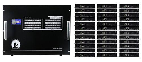 HDMI Matrix Switchers in 36x36 Chassis & 100ms Switching & HDMI over CAT5
