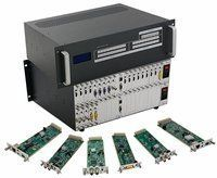 4x14 HDMI Matrix Switcher over CAT5 w/14-HDBaseT Receivers, Separate Audio & 100ms Switching