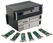4x16 HDMI Matrix Switcher over CAT5 w/16-HDBaseT Receivers, Separate Audio & 100ms Switching