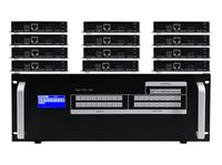 6x12 HDMI Matrix Switcher over CAT5 w/12-HDBaseT Receivers, Separate Audio & 100ms Switching