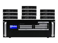 8x10 HDMI Matrix Switcher over CAT5 w/10-HDBaseT Receivers, Separate Audio & 100ms Switching