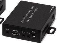 8x16 HDMI Matrix Switcher over CAT5 w/16-HDBaseT Receivers, Separate Audio & 100ms Switching
