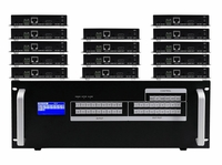 9x14 HDMI Matrix Switcher over CAT5 w/14-HDBaseT Receivers, Separate Audio & 100ms Switching
