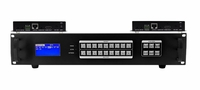 Seamless 9x2 HDMI Matrix Switcher over CAT5 w/2-HDBaseT Receivers & 100ms Switching