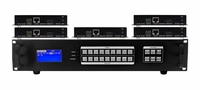 Seamless 9x5 HDMI Matrix Switcher over CAT5 w/5-HDBaseT Receivers & 100ms Switching