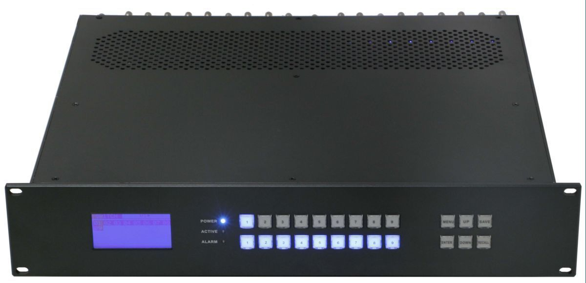 Seamless 9x9 HDMI Matrix Switcher over CAT5 w/9-HDBaseT Receivers & 100ms Switching