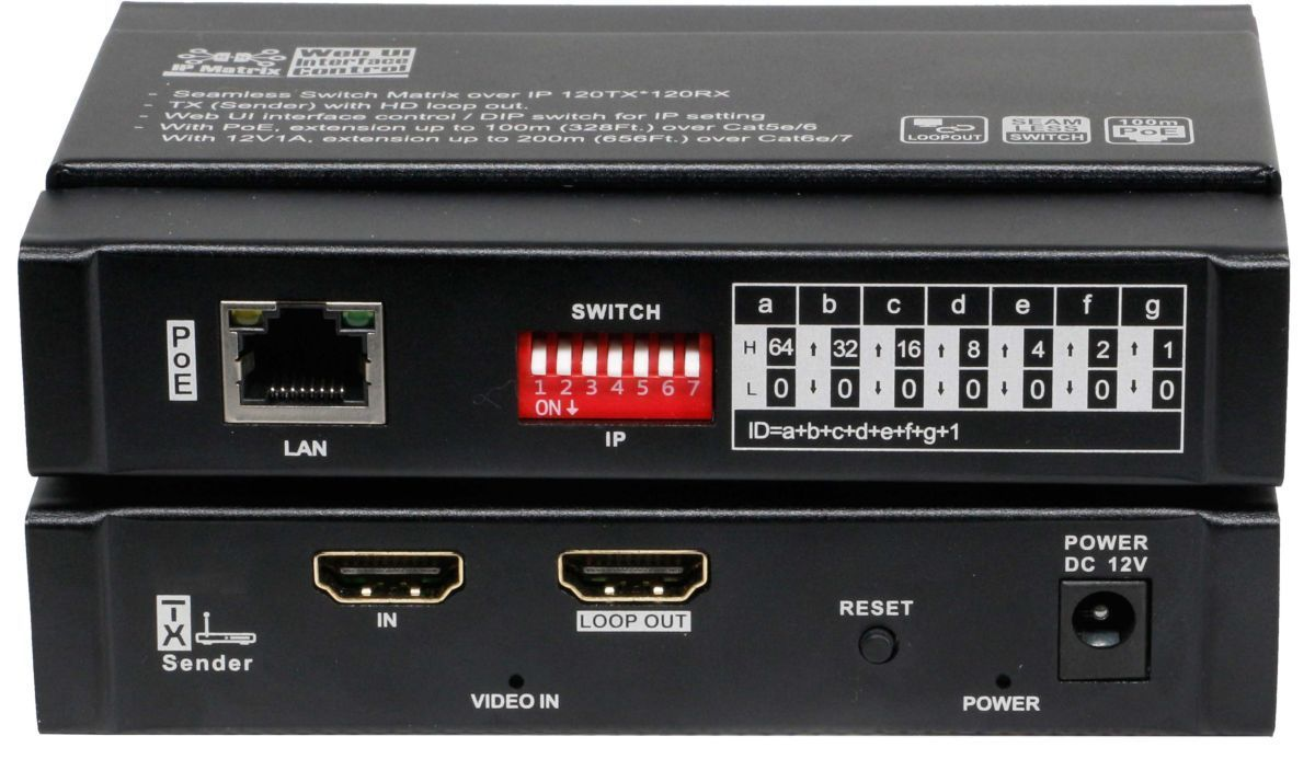 HDMI Extender Over IP with POE