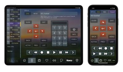 Sports Bar Remote Control Add On for a Tablet or Smart Phone