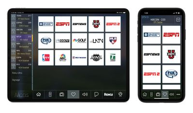 Sports Bar TV Favorites Add-on on a Smart Phone & Tablet