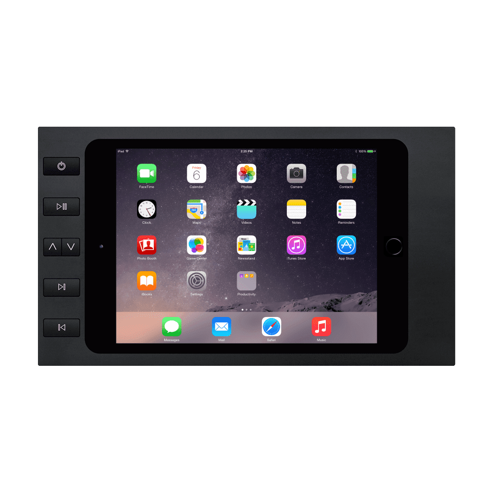 Surface Mount iPad Holder with Buttons on the Bezel