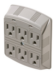 Surge Wall Tap made just for TV's - 6 Outlets