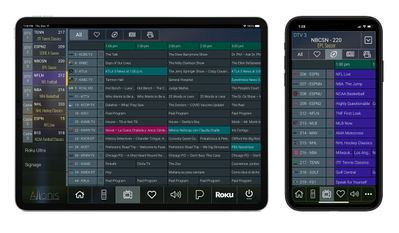 Sports Bar TV Guide Add-on for a Tablet or Smart Phone