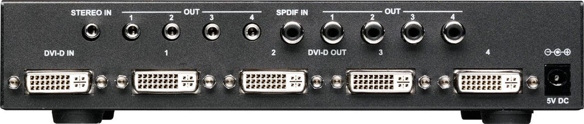 tvONE 1T-DA-564 DVI Distribution Amplifier w/Audio and HDCP 1x4