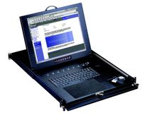 "Avenview USB & PS2 17"" LCD KVM drawer in 1U, w/ detachable real mini mouse 25.6"" deep"
