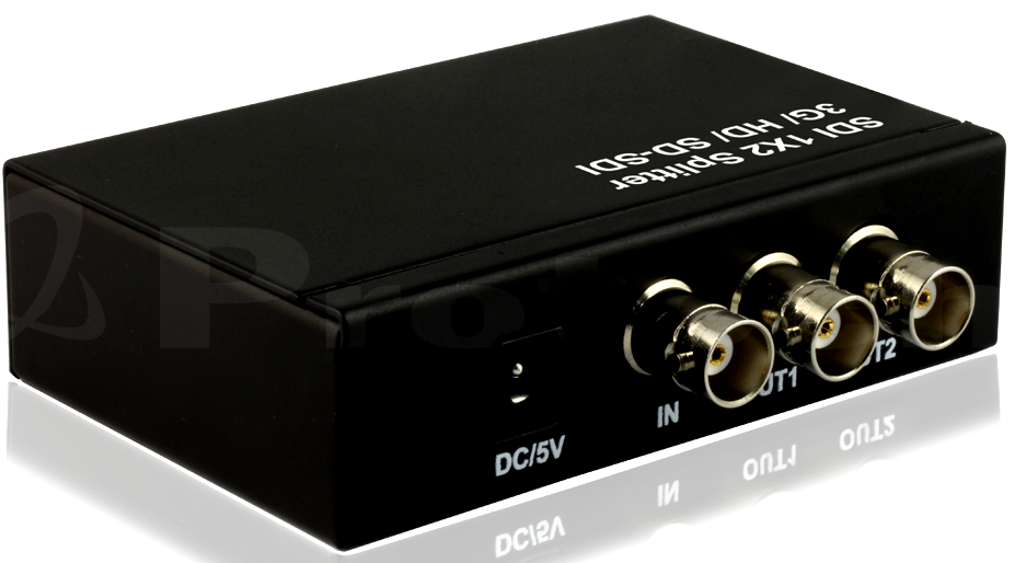 WolfPack 1x2 SDI Distribution Amp with OFF/ON Switch - 5 Year Warranty