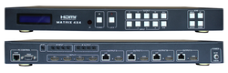 WolfPack 4X8 (4x4x2) HDMI Matrix Switch with 4-CAT5 & 4-HDMI Outs