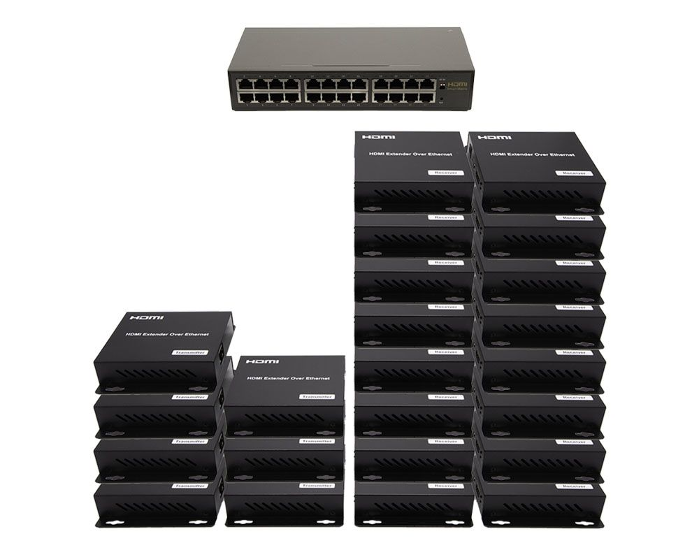 WolfPack 7x16 Network HDMI Matrix Switcher with WEB GUI & Remote IR