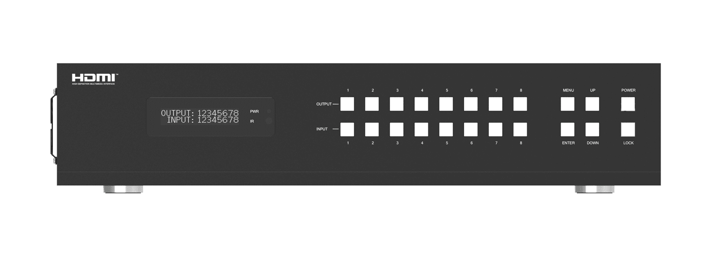4K 60 4:4:4 8x8 HDMI Matrix Switch over CAT6 with HDR, ARC, HDMI 2.0b