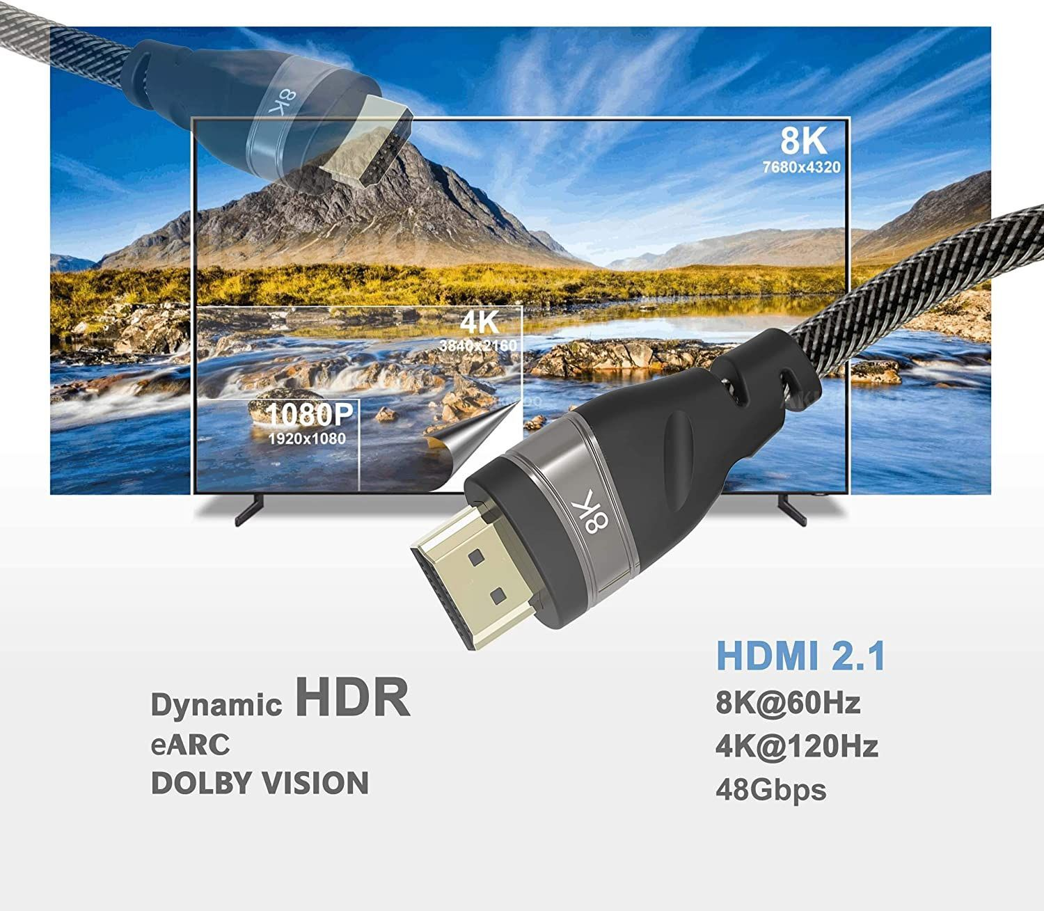 WolfPack™ 8K 1.5-Foot HDMI 2.1 Cable