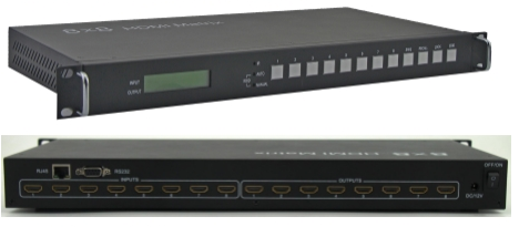 WolfPack 8x8 HDMI Matrix Router Over CAT5 to 150' w/Control4 & WEB GUI
