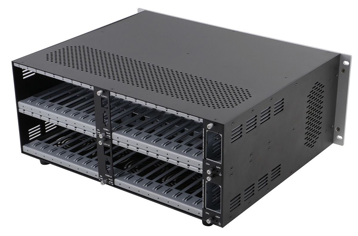 """WolfPack Empty 18x18 Modular Matrix Chassis with a 7"""" Color Touchscreen"""