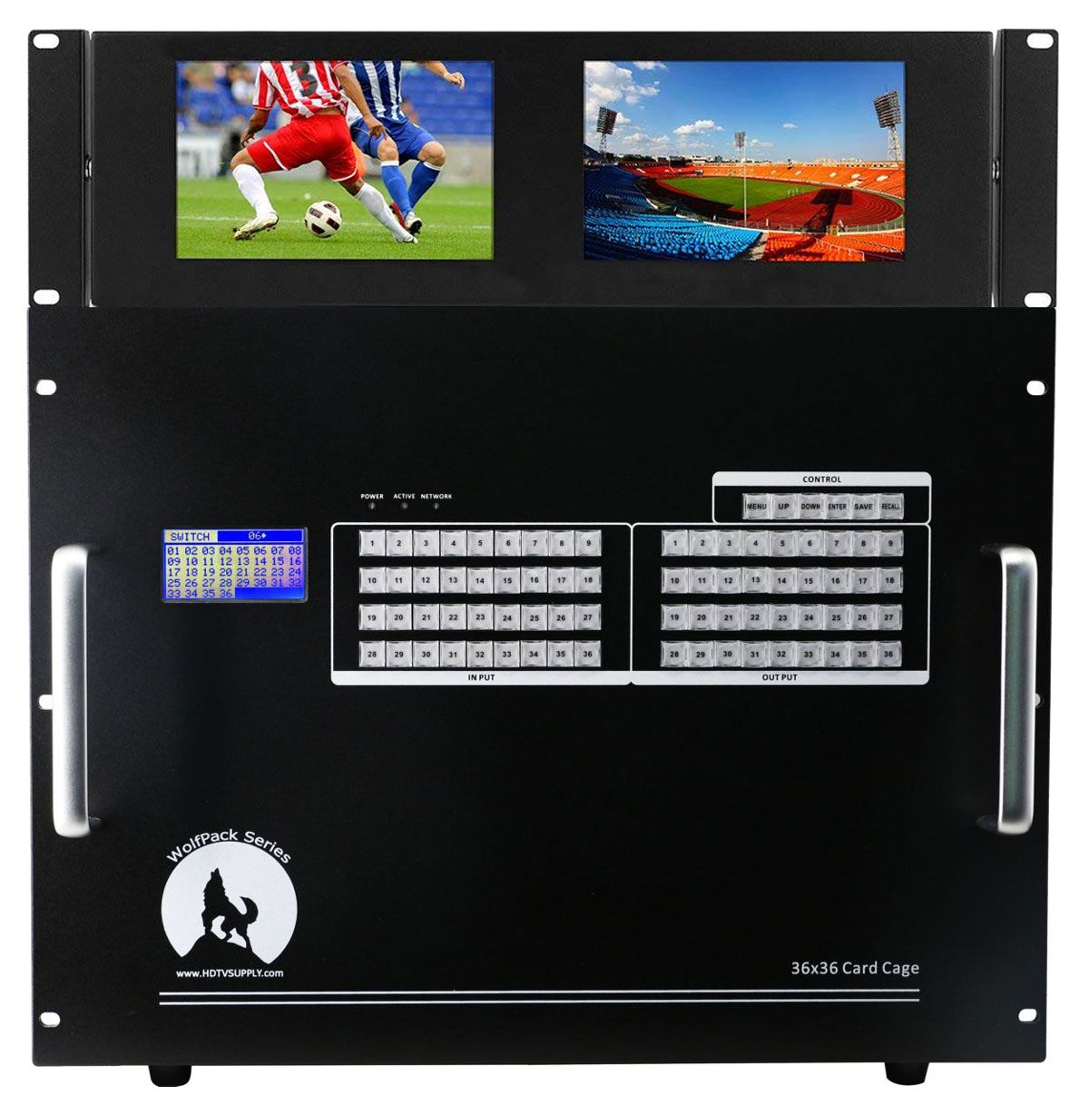 "WolfPack Rack Mount Dual 7"" Color Monitors"