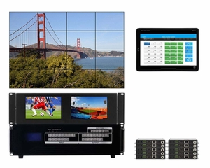 WolfPackGold 4x10 HDMI Matrix Switch with a Video Wall Function Over CAT5