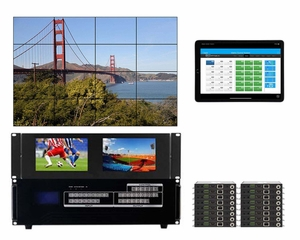 WolfPackGold 4x8 HDMI Matrix Switch with a Video Wall Function Over CAT5