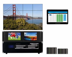 WolfPackGold 4x9 HDMI Matrix Switch with a Video Wall Function Over CAT5