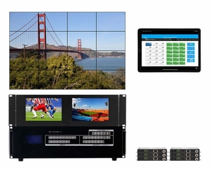 WolfPackGold 6x6 HDMI Matrix Switch with a Video Wall Function Over CAT5