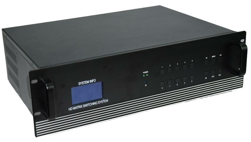 12x4 HDMI Matrix Switcher in 16x16 Chassis