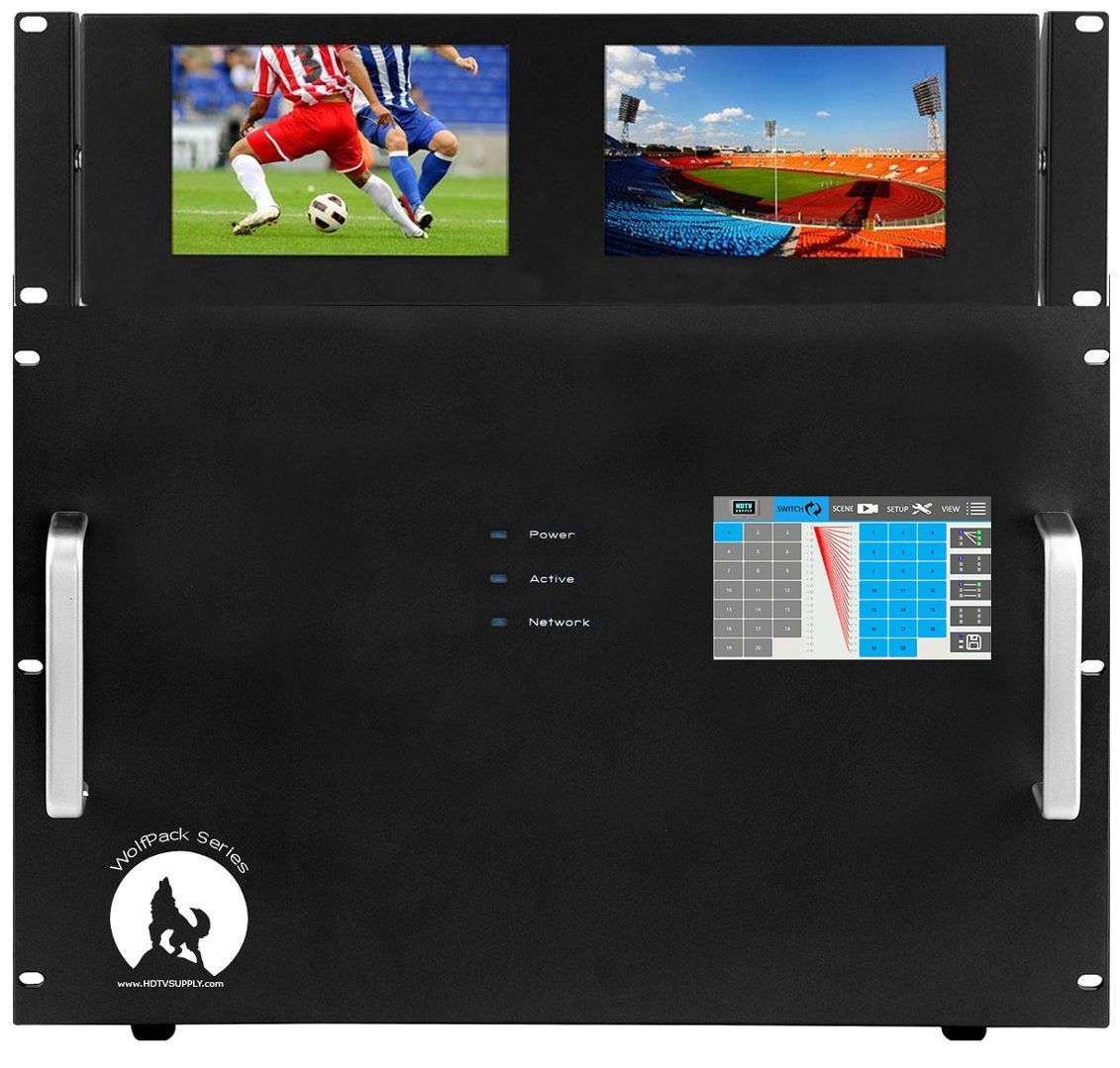 Build a 4K Modular HDMI Matrix Switcher with Touch Screen in a 36x36 Chassis