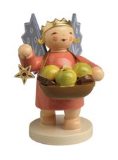 Angel Wearing Crown Holding Basket of Fruit and Cookies (New in 2019) - Wendt & Kuhn