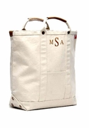 Around Town Canvas Cargo Tote Bag | Monogram
