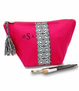 Aztec Pattern Accessory Pouch | Monogram