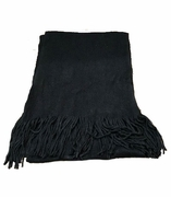 Black Knit Woman's Scarf