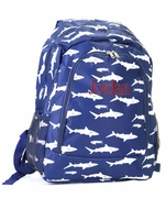Boys Shark Backpack | Personalized