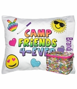 Camp Pillowcase with Accessory Pouch | Personalized